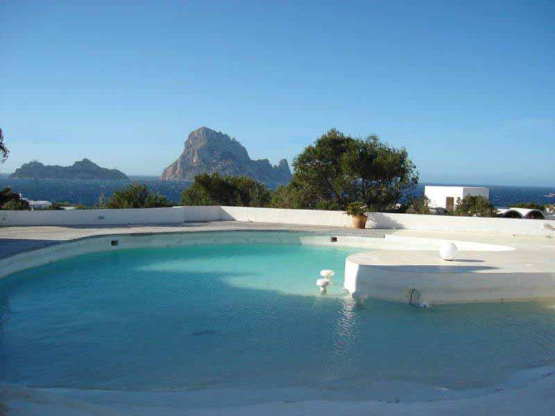Casaviva Ibiza Inmobiliaria: Minimalist villa with breathtaking sea views and views to Es Vedr� in Cala Carb� - San Jos�.