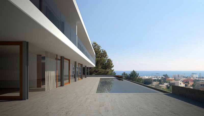 Casaviva Ibiza Inmobiliaria: Minimalist villa with sea views in San Jos� - Ibiza.