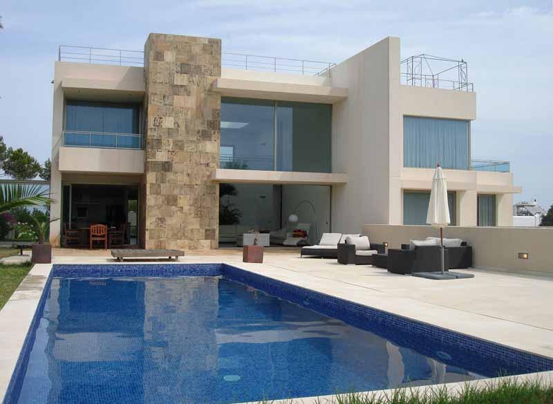 Casaviva Ibiza Inmobiliaria: Villa minimalista con vistas al mar en Cala Conta - San Jos�.
