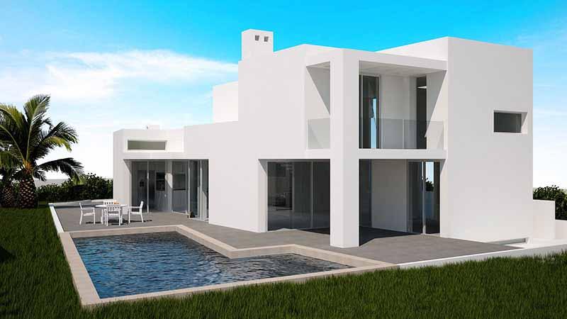 Casaviva Ibiza Inmobiliaria: Villa de nueva construcci�n situada en Jes�s - Ibiza.